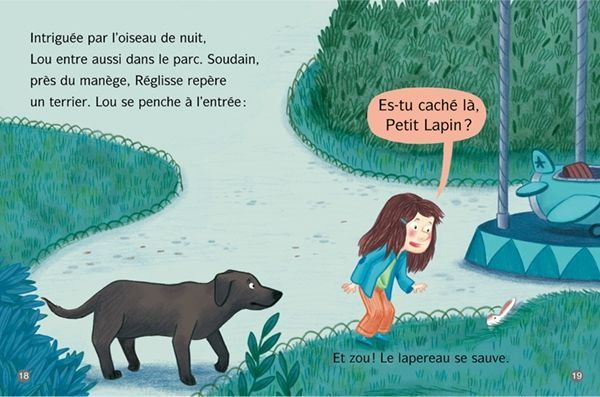 Lou Et Le Petit Lapinou Moufle Melanie Allag Oiseau De Nuit Lapereau Petit