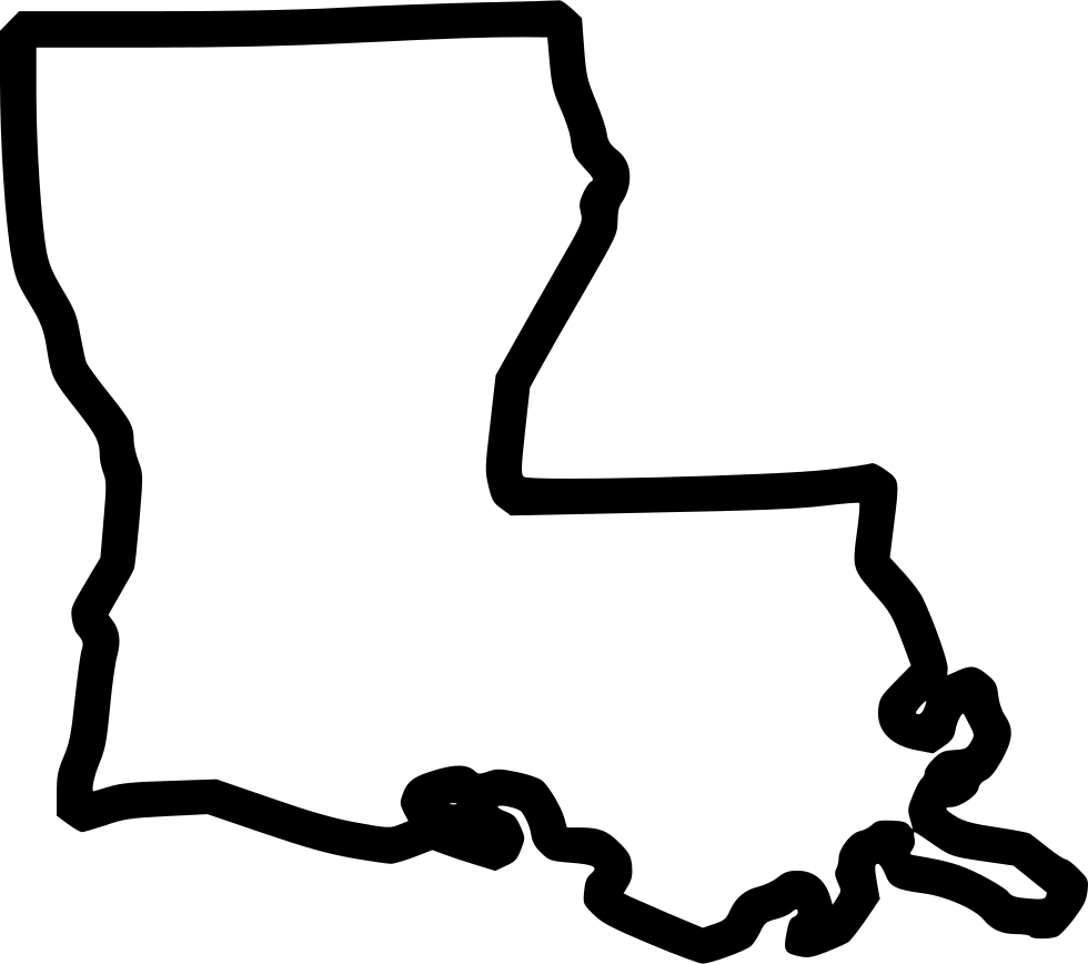 View And Download Hd Louisiana Svg Outline Louisiana State Outline Svg Png Image For Free The Image Resolution Is 980 8 Louisiana Svg Clip Art State Outline