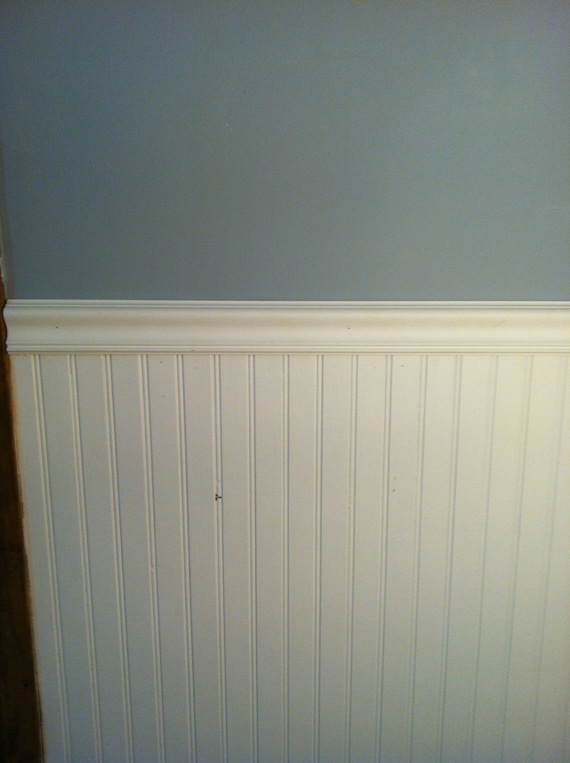 white beadboard with chair rail