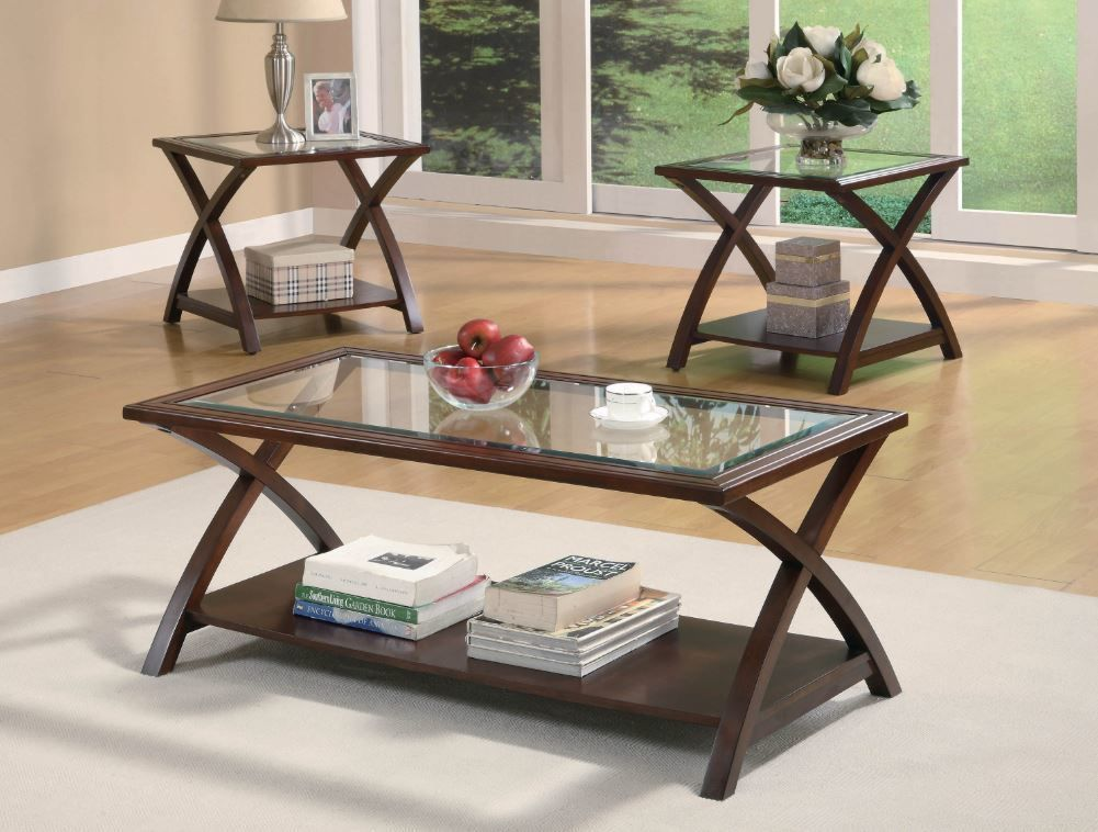 Best Hot Buy ☀ Coaster Nadine Cappuccino 3 Pc Occasional Table 640 x 480