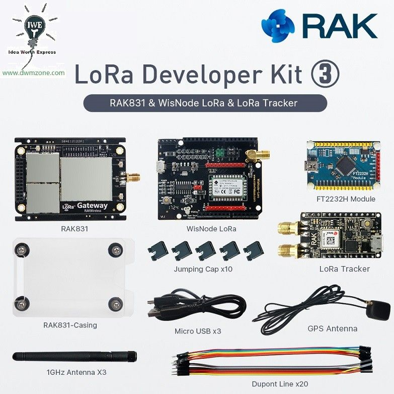 LoRa IOT Developer Kit WisNode-LoRa RAK831 LoRa Gateway Module and