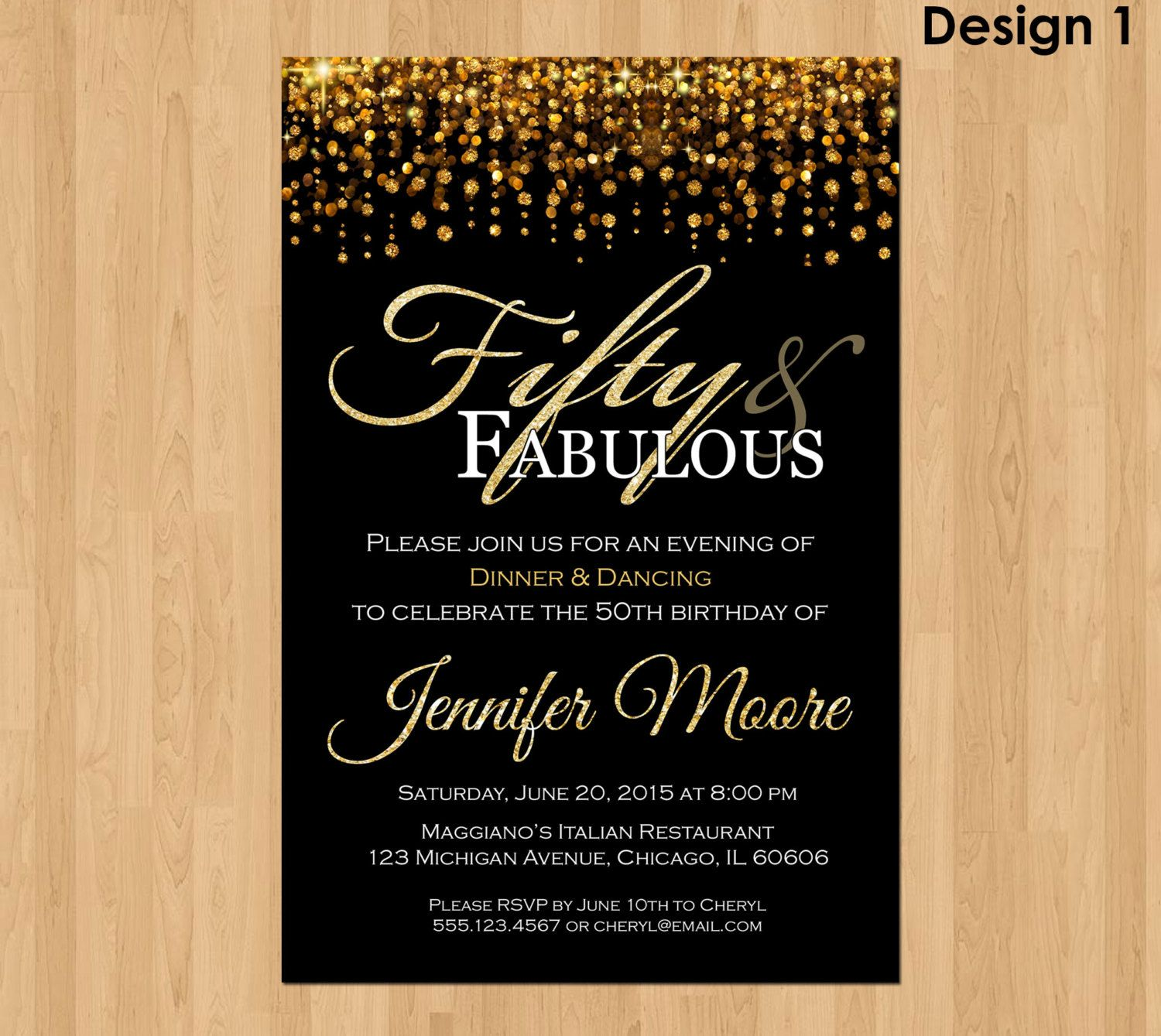 50th birthday invitations templates invitstiond by own in 2018