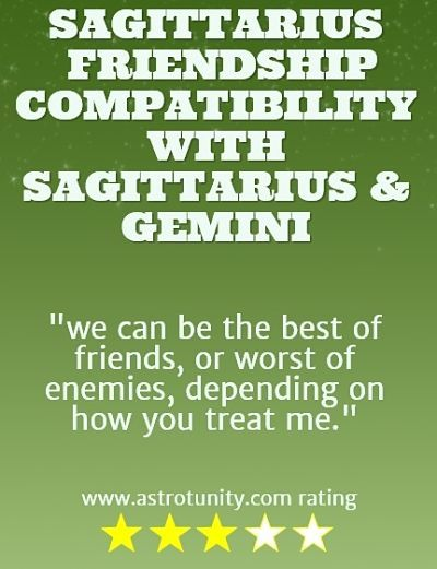 Compatibility of sagitarius and cancer