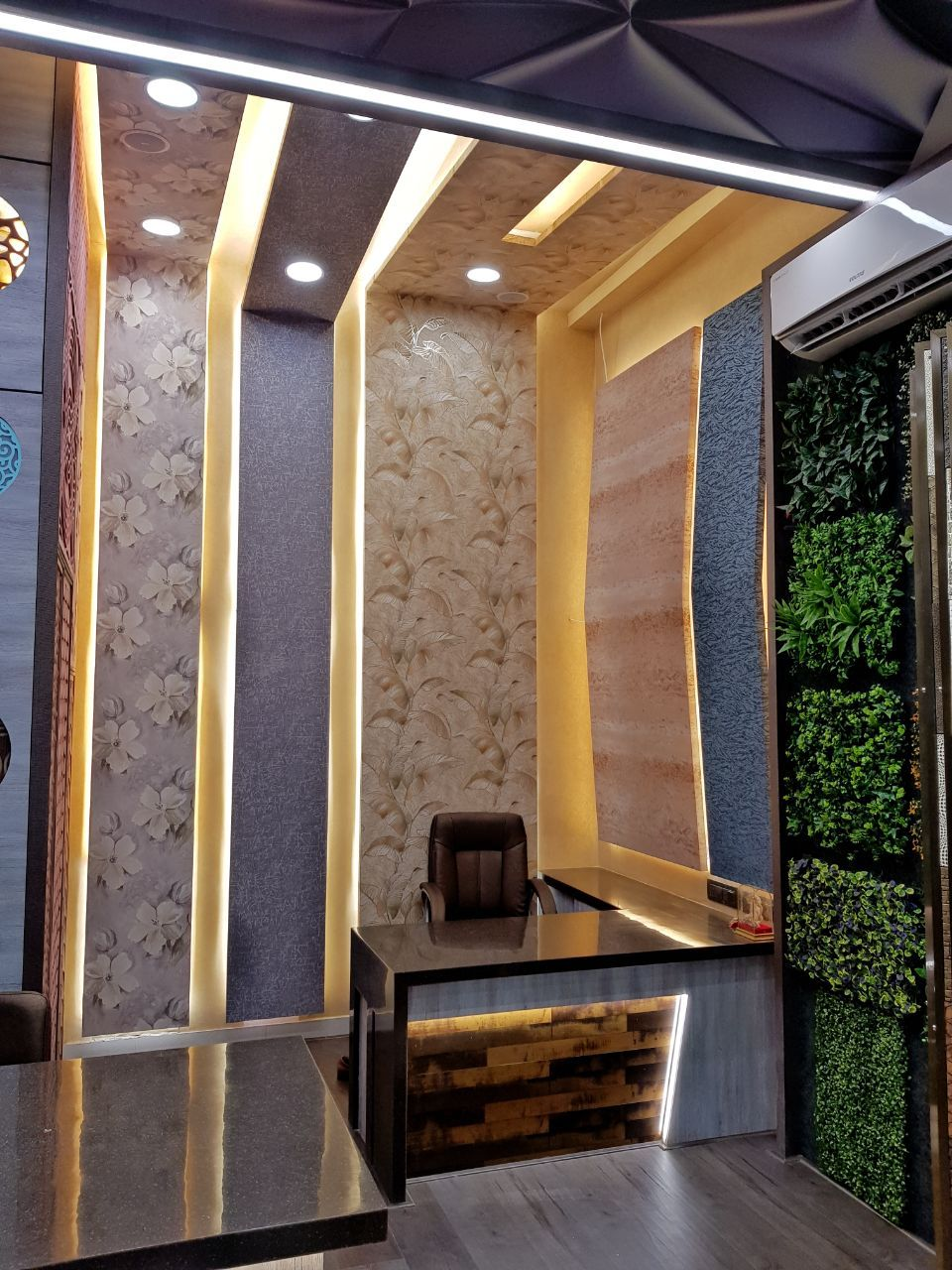 Wallpaper Wall Ambient Backdrop Lighting Showroom Trendy Office