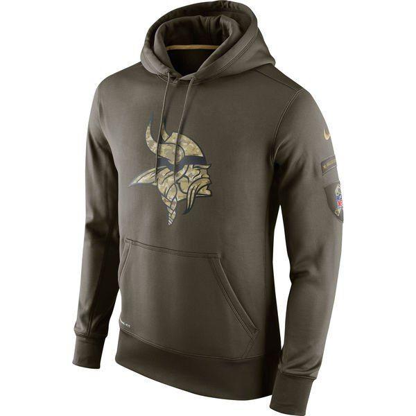 online store fbd9e f6d12 Men's Minnesota Vikings Green Salute To Service 2015 NFL ...