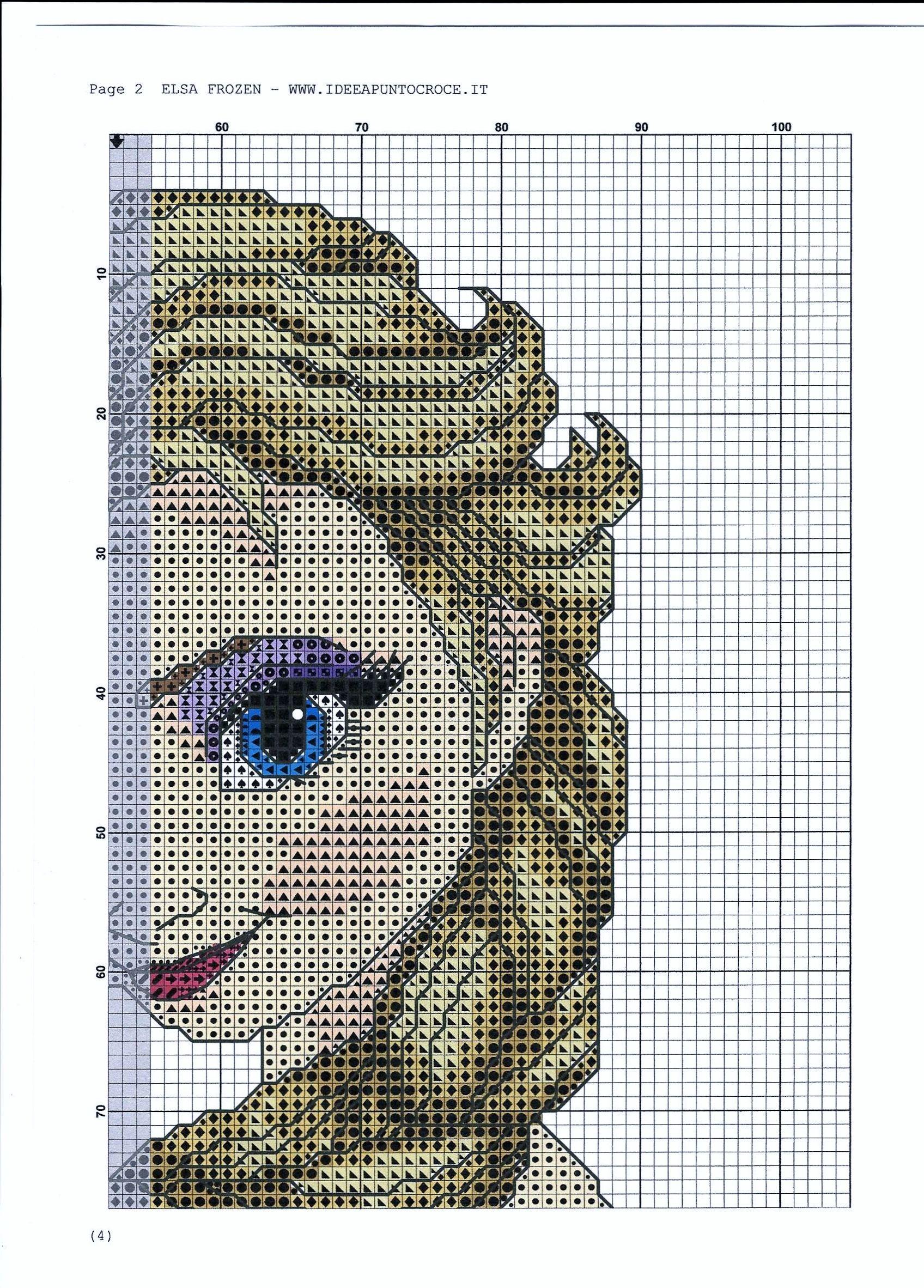SCHEMA ELSA FOGLIO 2 | Cross stitching | Pinterest | Bügelperlen ...