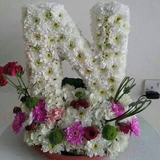 Pin By Mona Mnm On Flowers Flower Letters Floral Letters Special Flowers