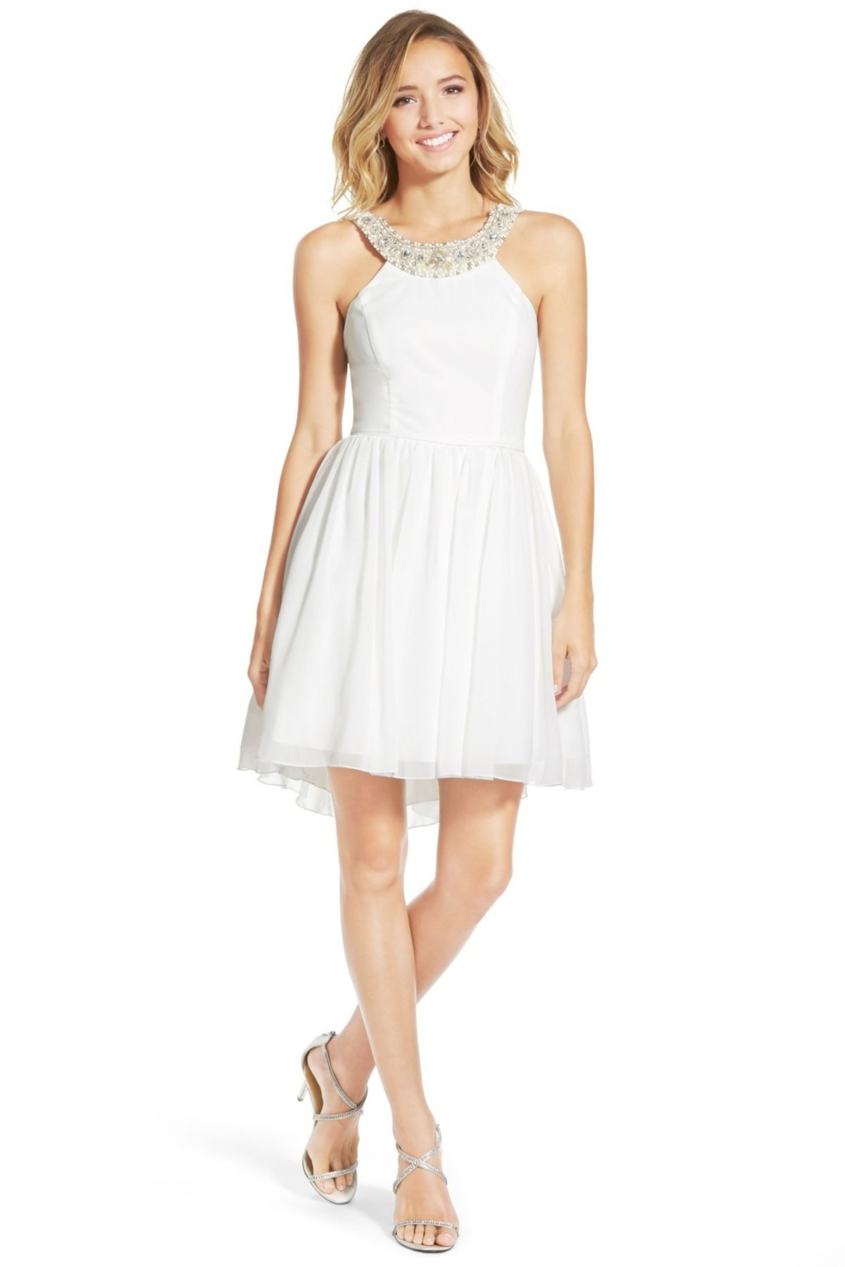 cdd660ddf88 WAY-IN - Embellished Neck Skater Dress (Juniors) at Nordstrom Rack. Free  Shipping on orders over  100.