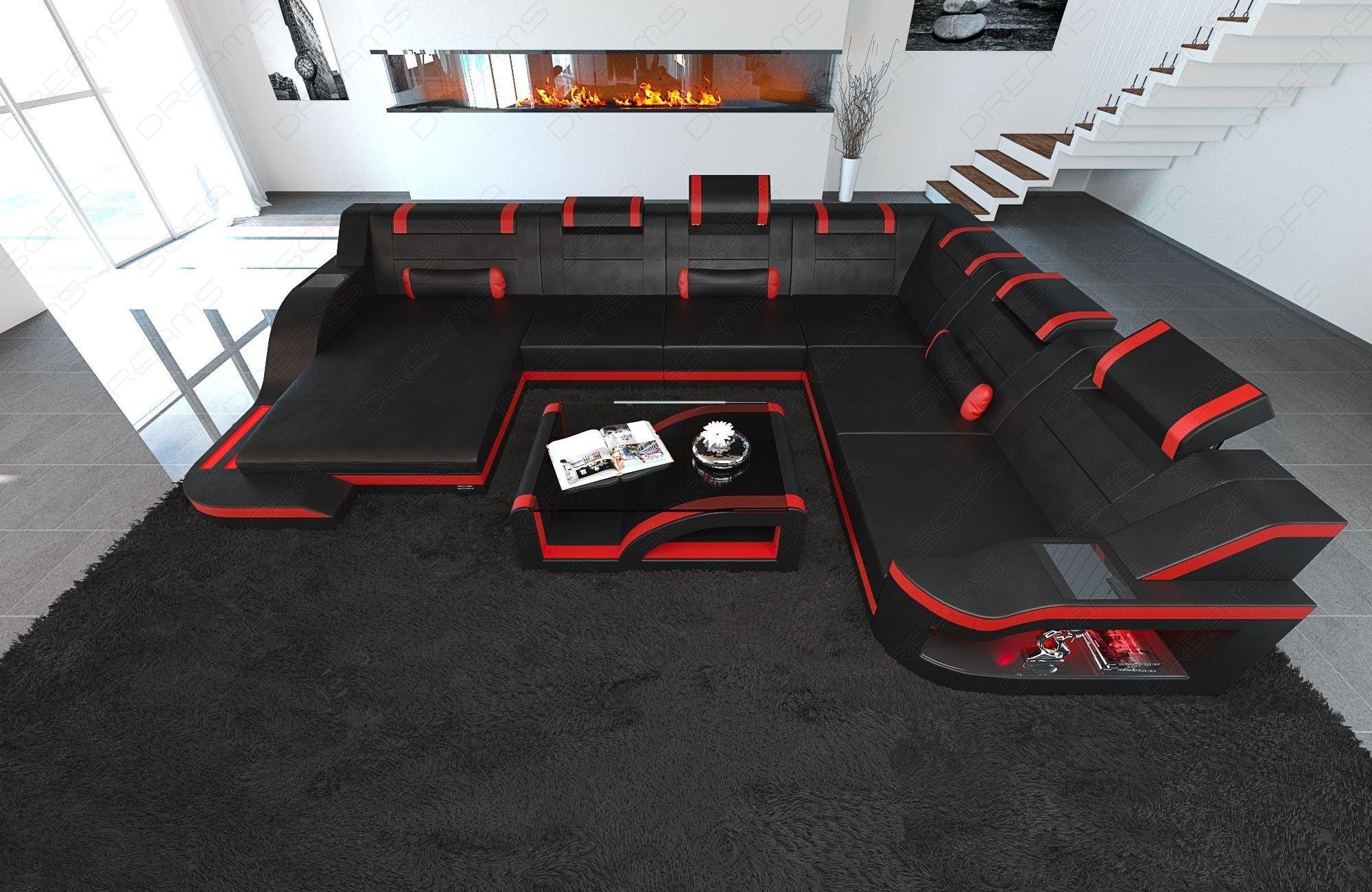 Design Sectional Sofa Detroit LED XL Shape  Living room sofa