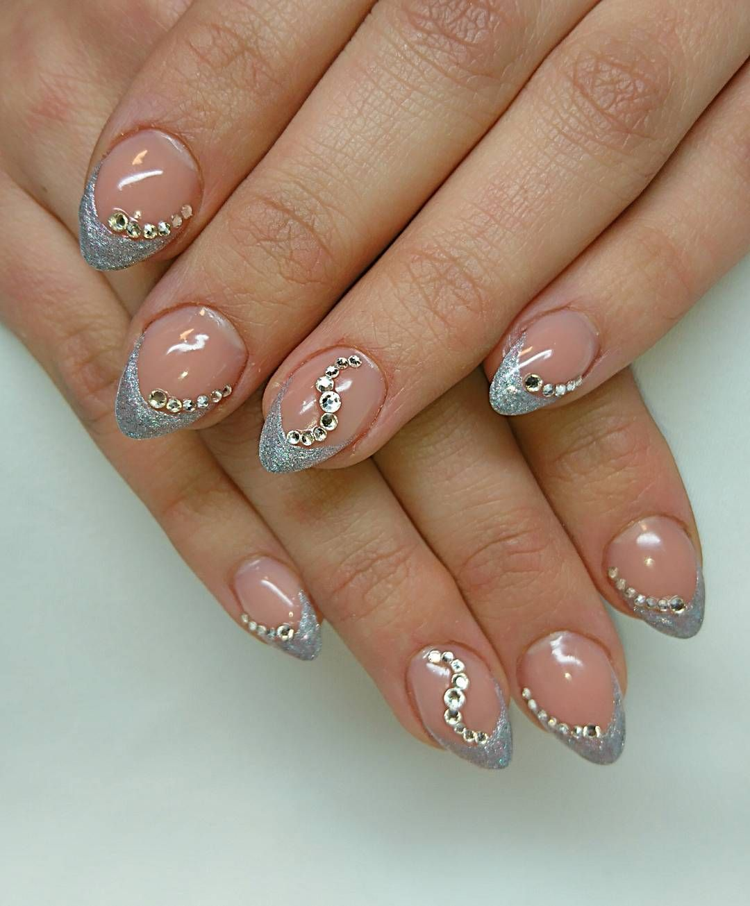 nice 30 Sparkly Ideas for Diamond Nails - A Girl\'s Best Friend ...