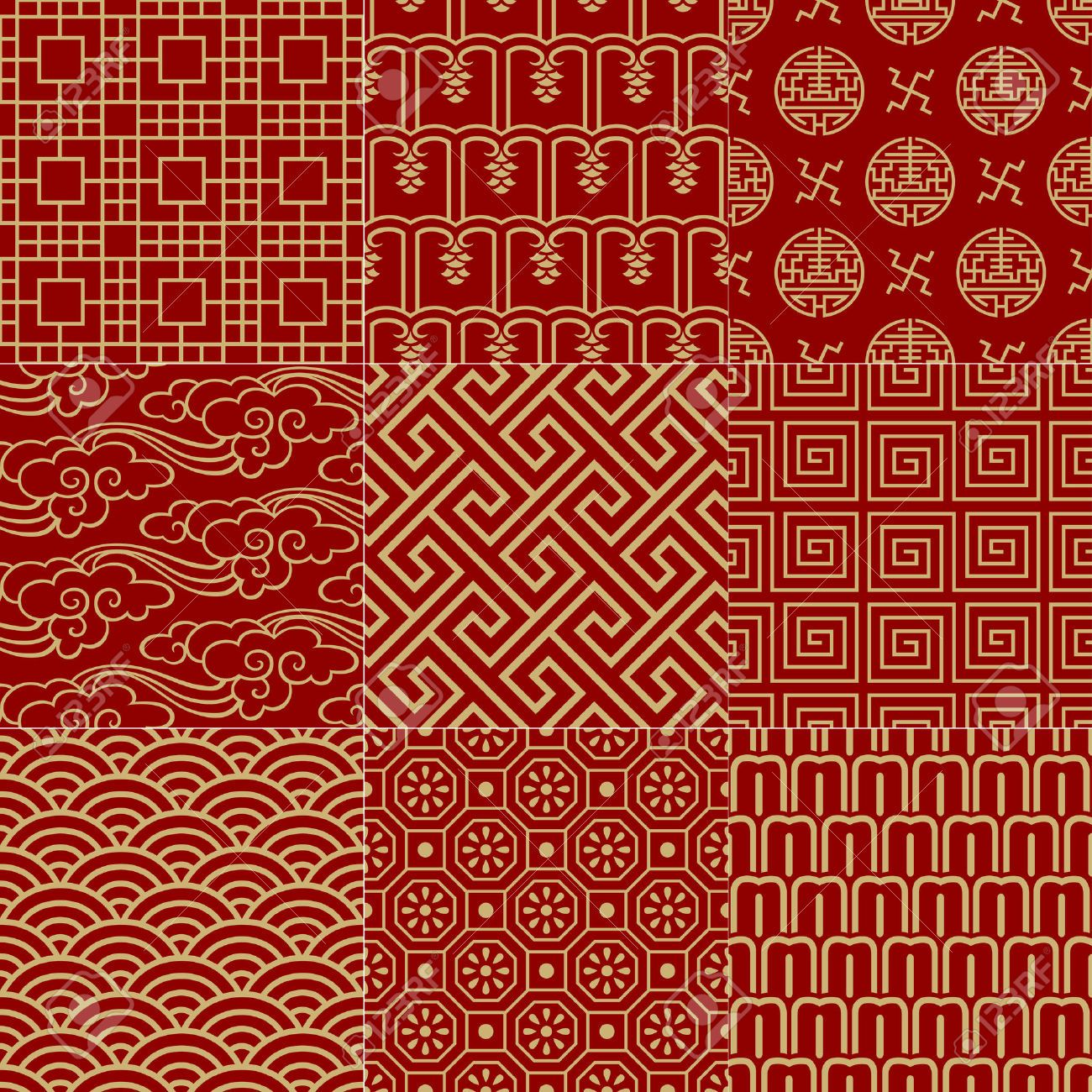 Seamless Traditional Auspicious Chinese Mesh Pattern Royalty Free Cliparts Vectors And Stock Illustration Image 24932228