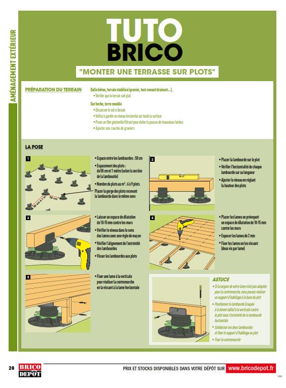 Brico Depot Renovation Amenagement Cataloguespromo Com Depot Terrasse Terrasse Sur Plots