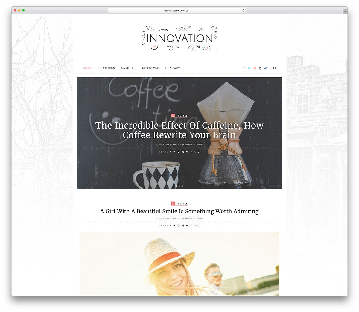 innovation-lifestyle-wordpress-blog-template | Blog Web Design ...