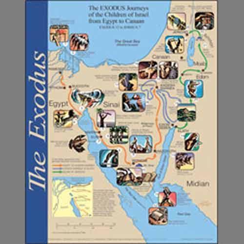 exodus wall map exodus bible bible mapping laminate wall on laminated wall maps id=40400