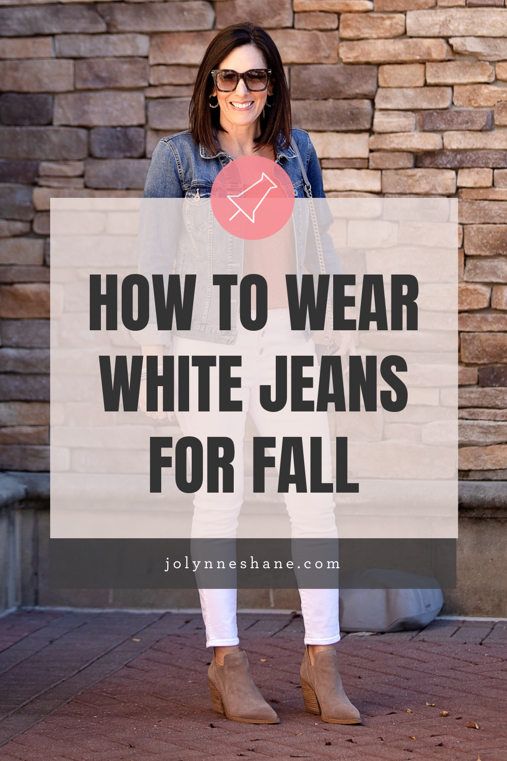 Fall White Jeans Outfit with Ankle Boots {OR MULES}