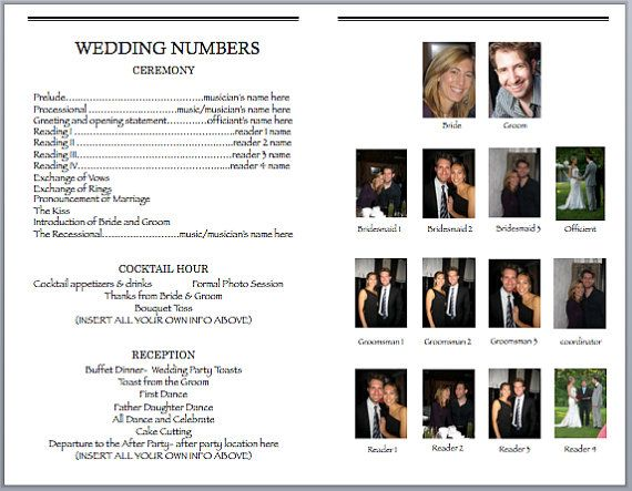 Wedbill A Playbilllike Wedding Program Template by bergrens - sample program templates