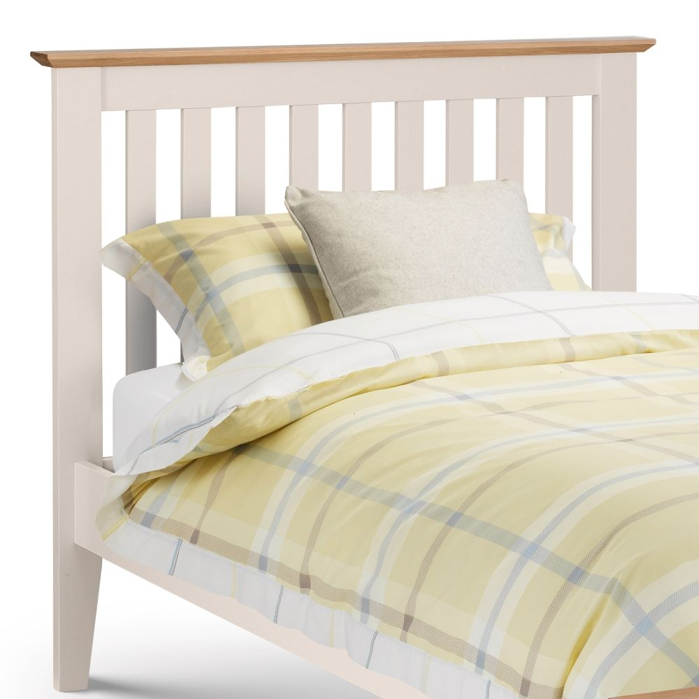 Salerno Ivory And Oak Finish Wooden Bed Frame 4ft6 Double