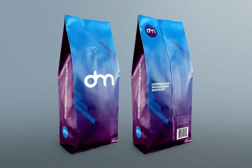 Download Free Coffee Bag Packaging Mockup Packaging Mockup Bag Mockup Free Coffee