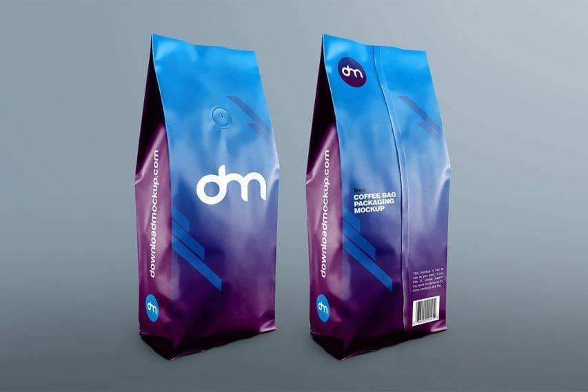 Free Coffee Bag Packaging Mockup Packaging Mockup Coffee Bag Design Bag Mockup