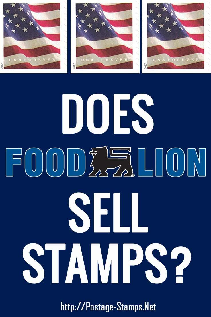 Can you buy stamps at food lion get info on us postage