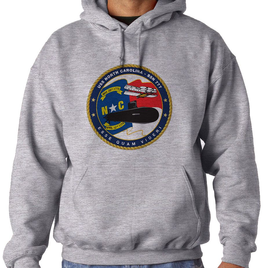 USS North Carolina Hooded Sweatshirt now available! These Comfortable Hoodies are made from soft polyester & fleece to keep you warm and also provide moisture wicking technology for dryness. Our printing technology ensures high quality as the imagery will never crack, peel, unravel or fade over time. Hooded Sweatshirts are Designed, Printed & Sublimated in the USA -Fabric Imported.
