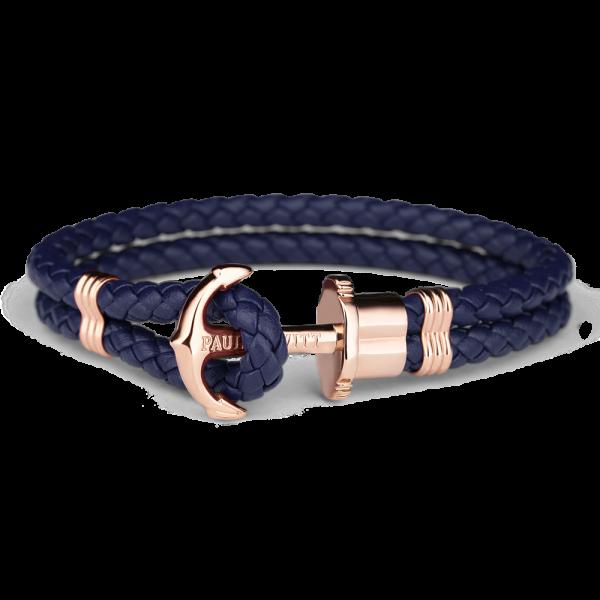 Anchor Bracelet Phrep Ip Rose Gold Navy Blue Giftryapp Armband Anker Schwarzes Lederarmband Armband