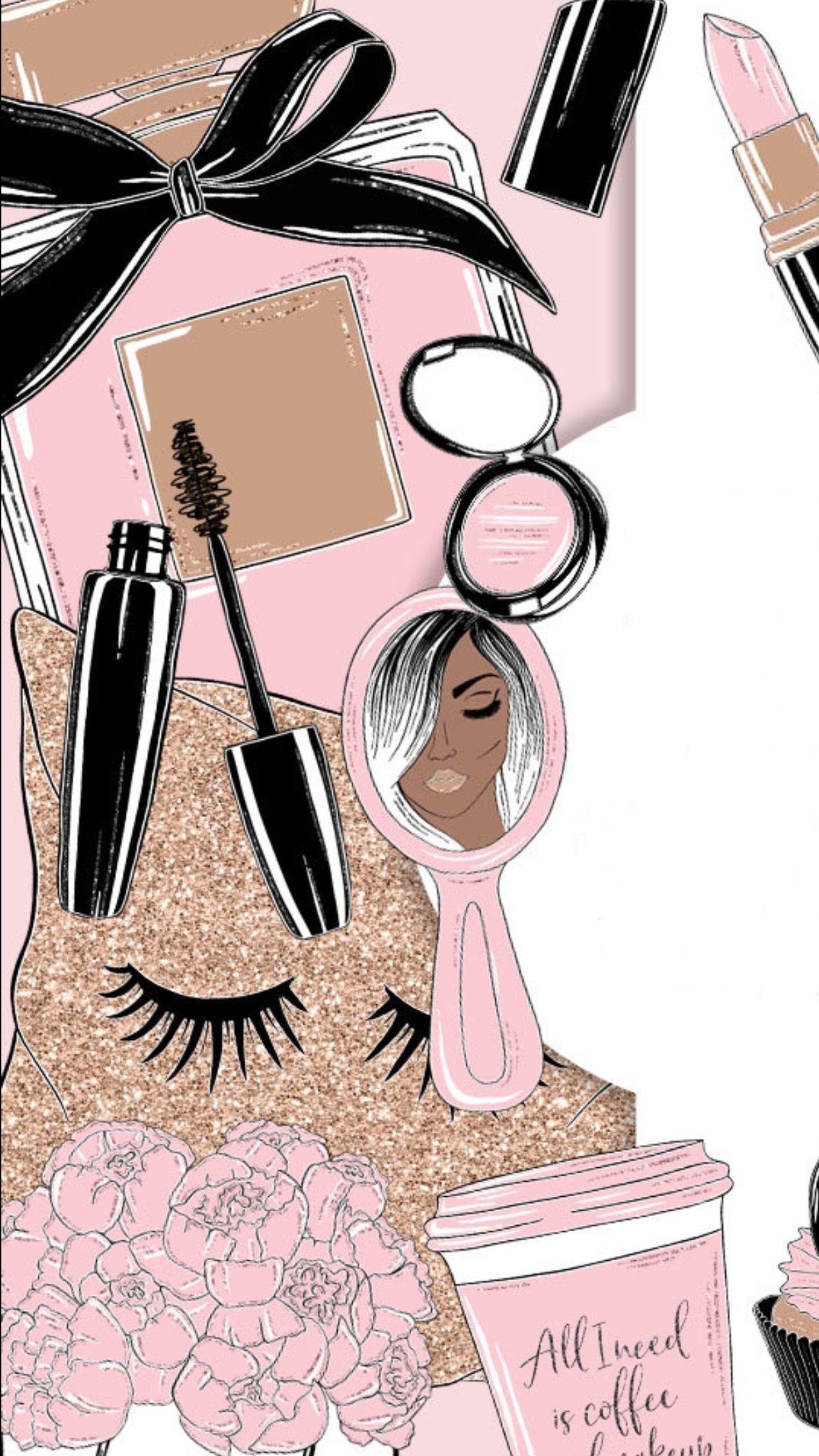 ⭐Explore more Wallpapers | Makeup wallpapers, Cute ...