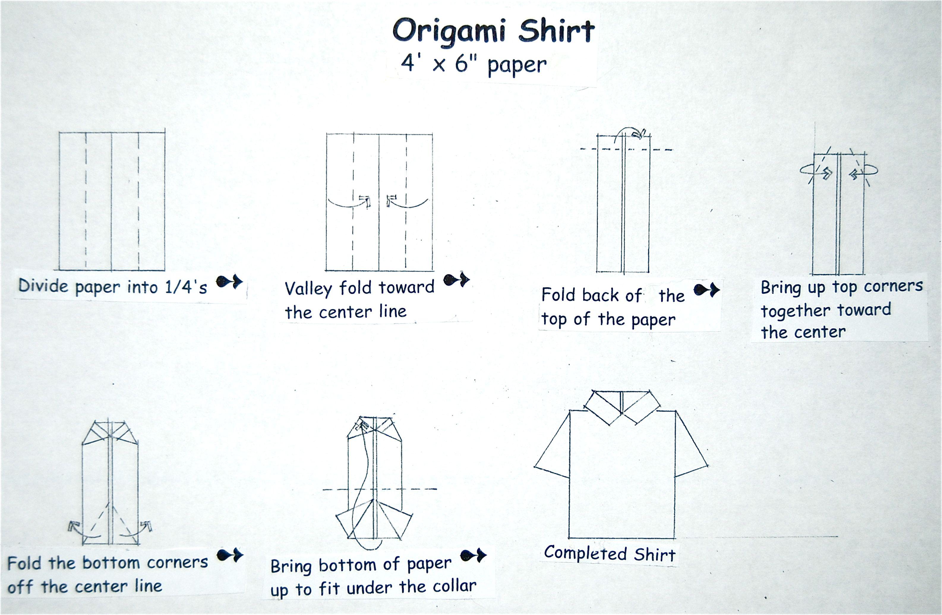 Оригами рубашка картинки, гифка