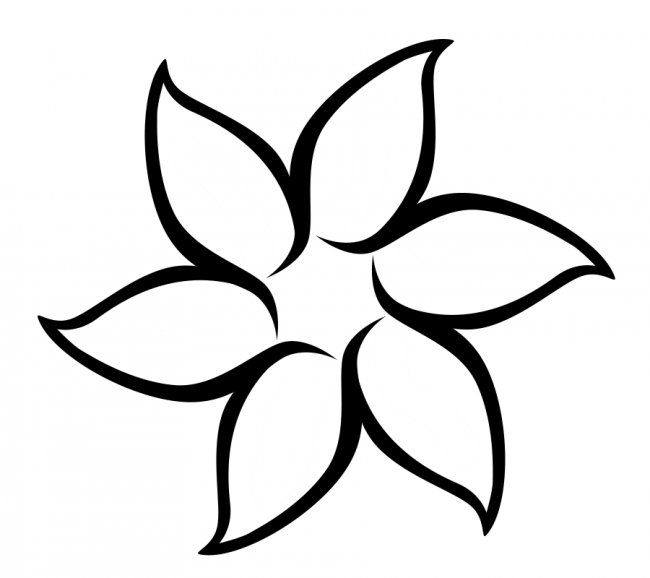 Best Photos of Flower Patterns To Cut Out - Paper Flower Templates - flower template