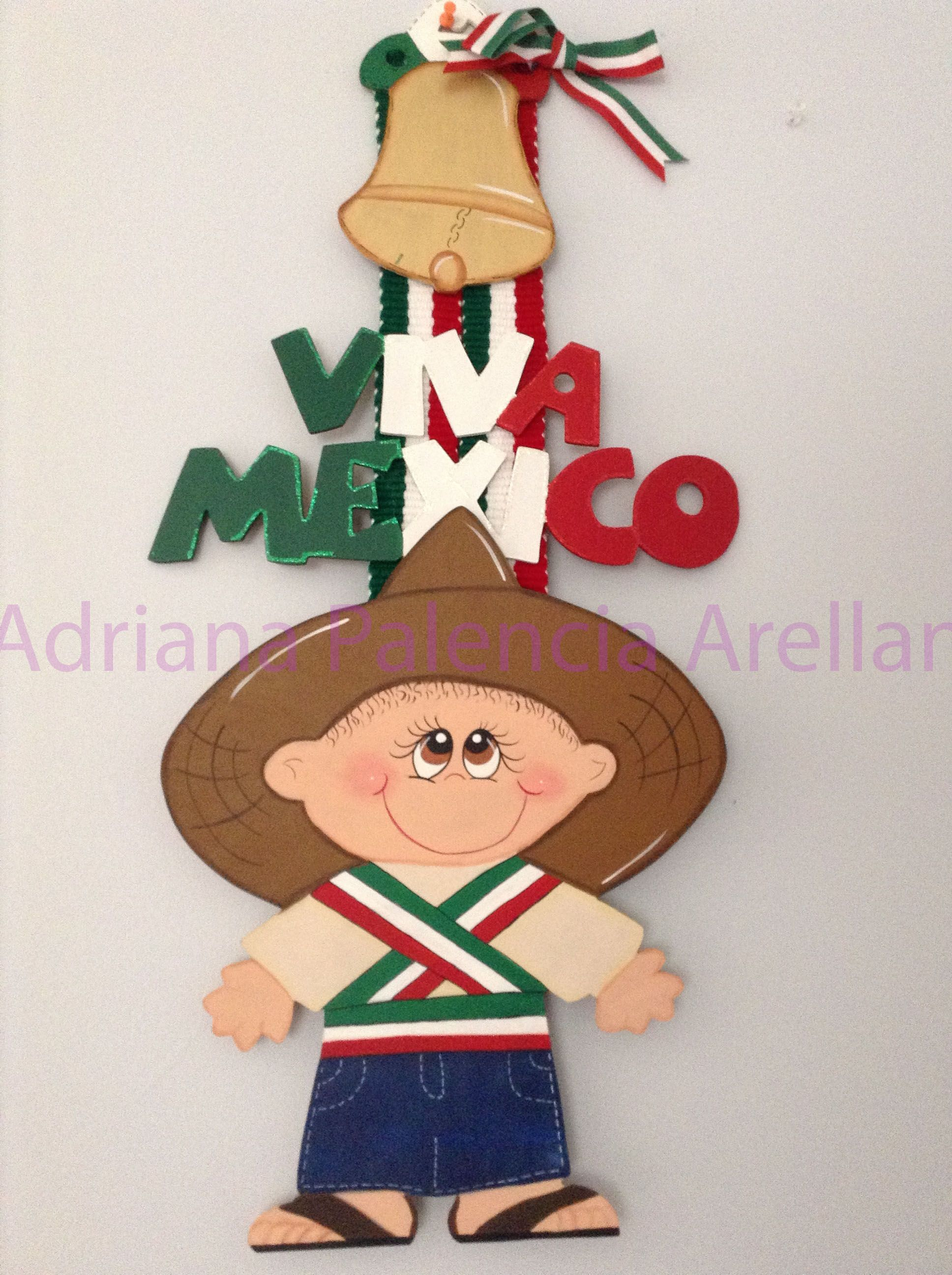 FIESTAS PATRIAS EN MADERA | Mexican themed crafts | Pinterest ...