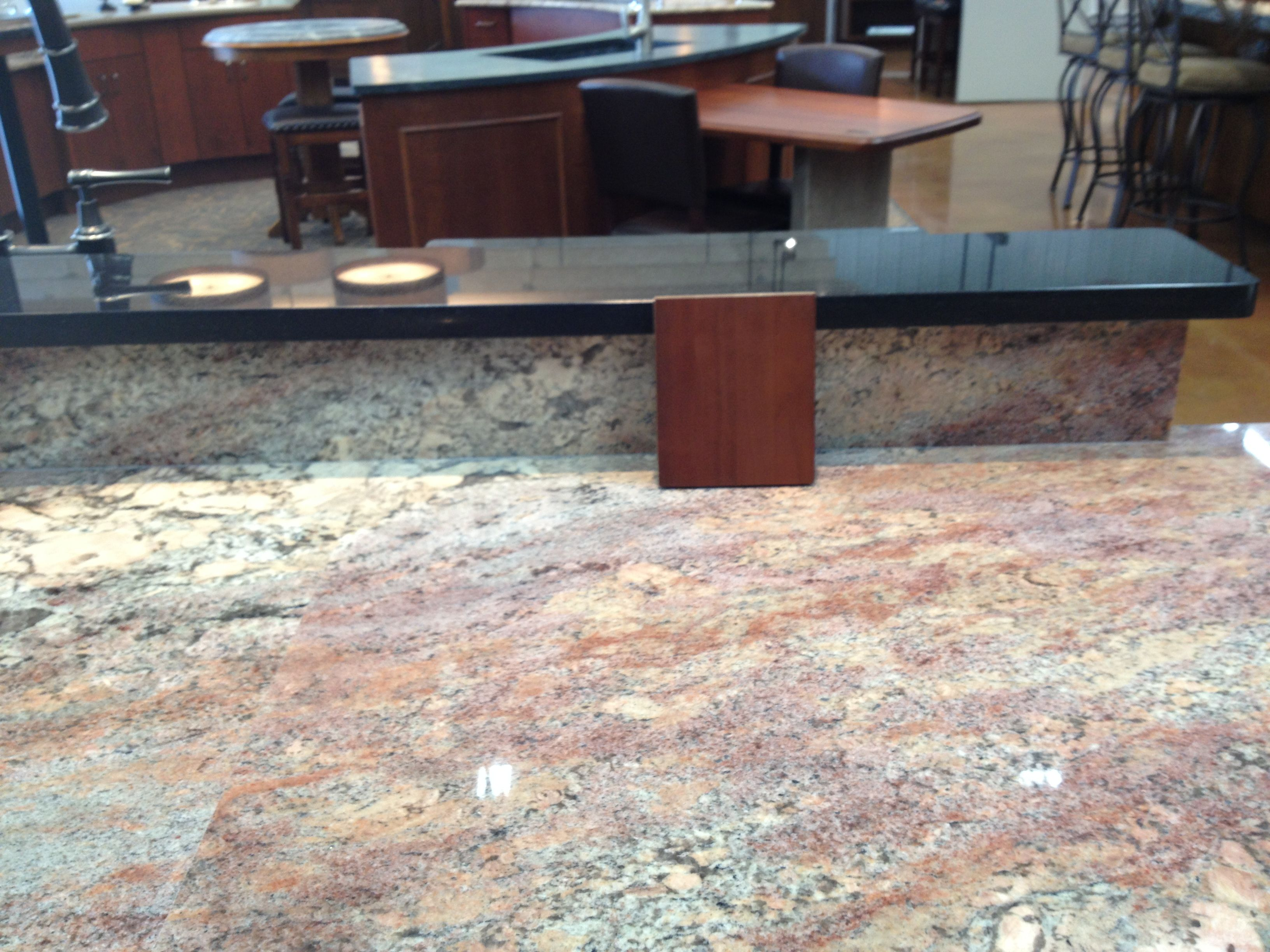 Crema Bordeaux Granite Kitchen Crema Bordeaux Granite With A Sample Of Our Cabinet Color Home