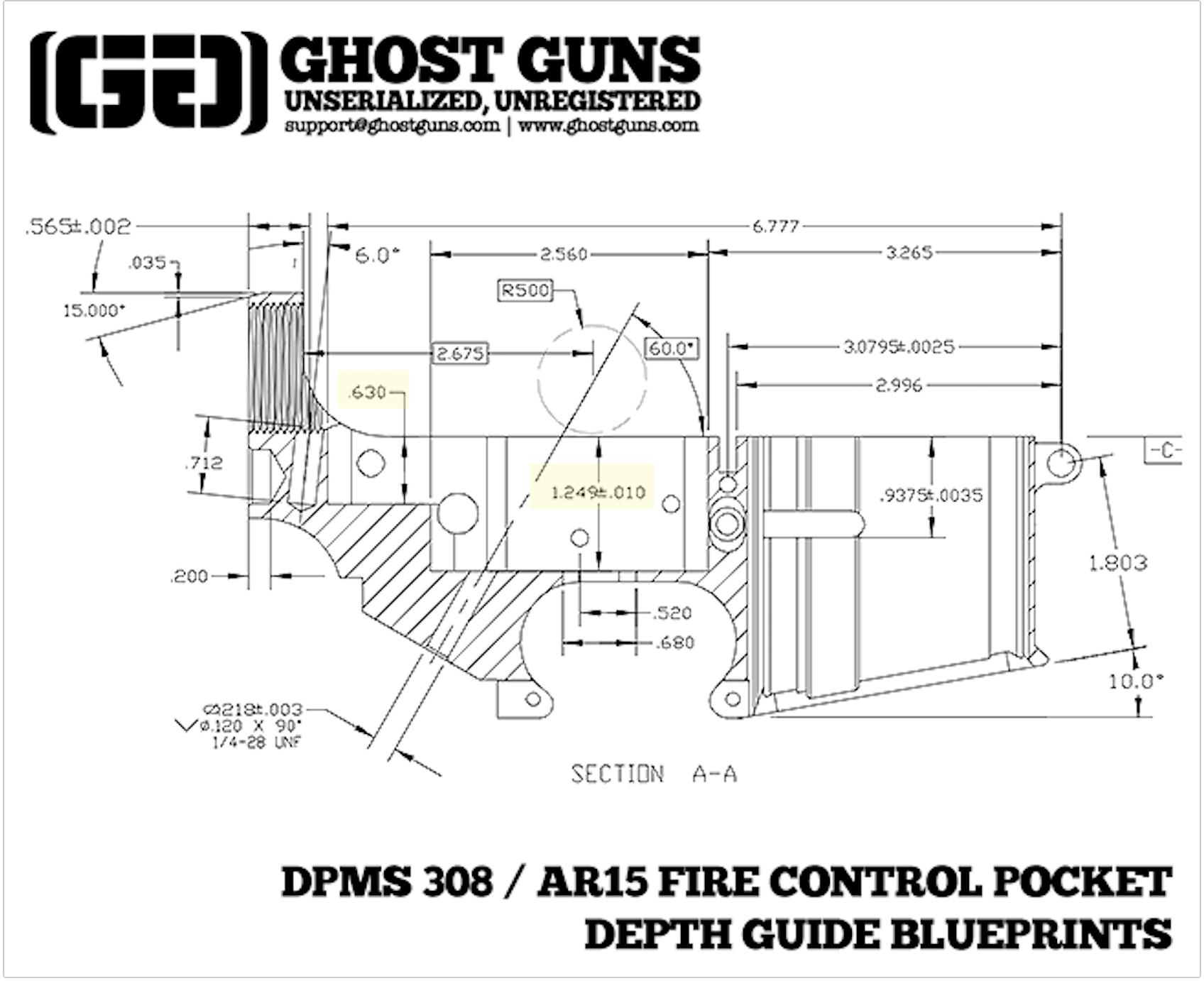 ar 15 lower receiver schematic