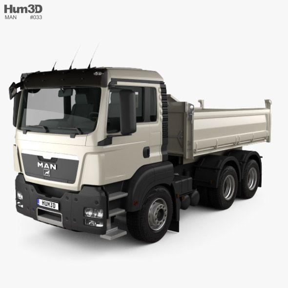 MAN TGS M Day Cab Meiller-Kipper D316 Tipper Truck 3-axle 2012. Fully customizable 3D model of a truck. #3D #3DModel #3DDesign #truck #VR #AR #2012-2019 #3-axle #cab #D316 #day #german #germany #heavy #industrial #m #man #ManTgs #meiller-kipper #tgs #tipper #trucks