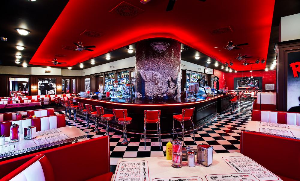 James Dean Diner Prague In 2020 Diner Retro Diner Diner Aesthetic