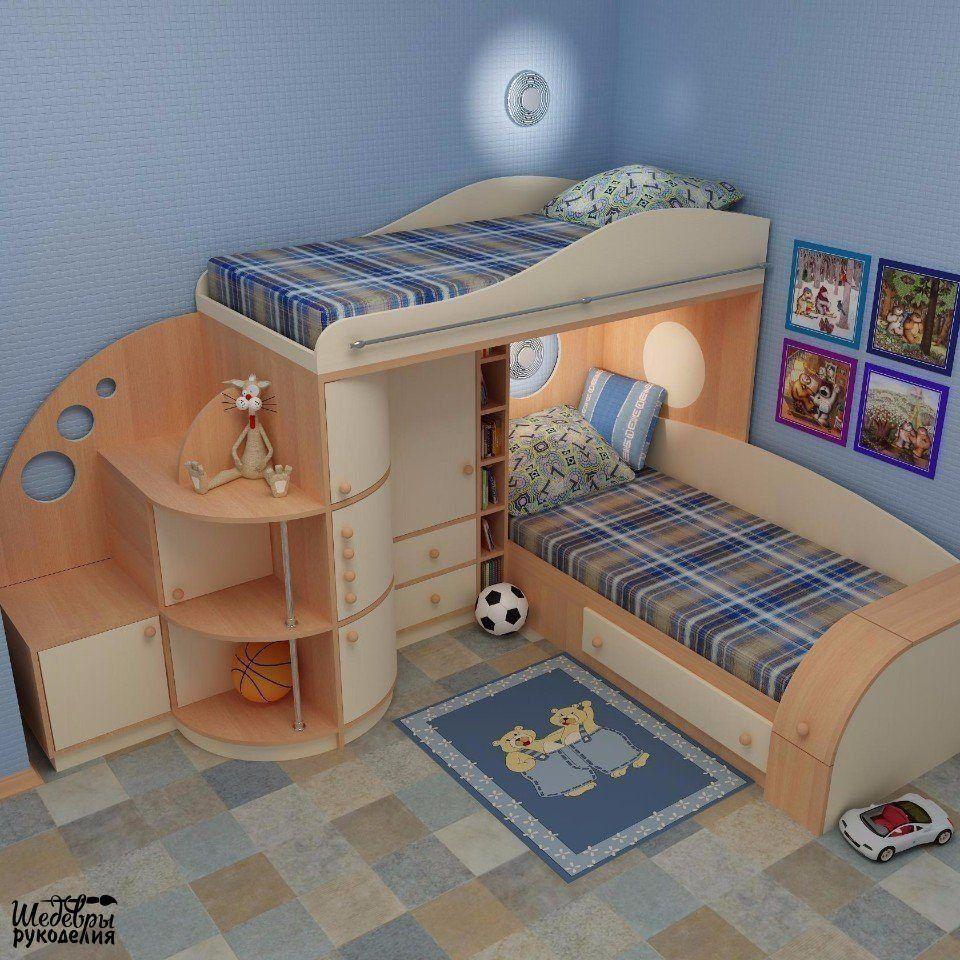 Идеи детских комнат | Кровати, Квартирные идеи, Планы ...