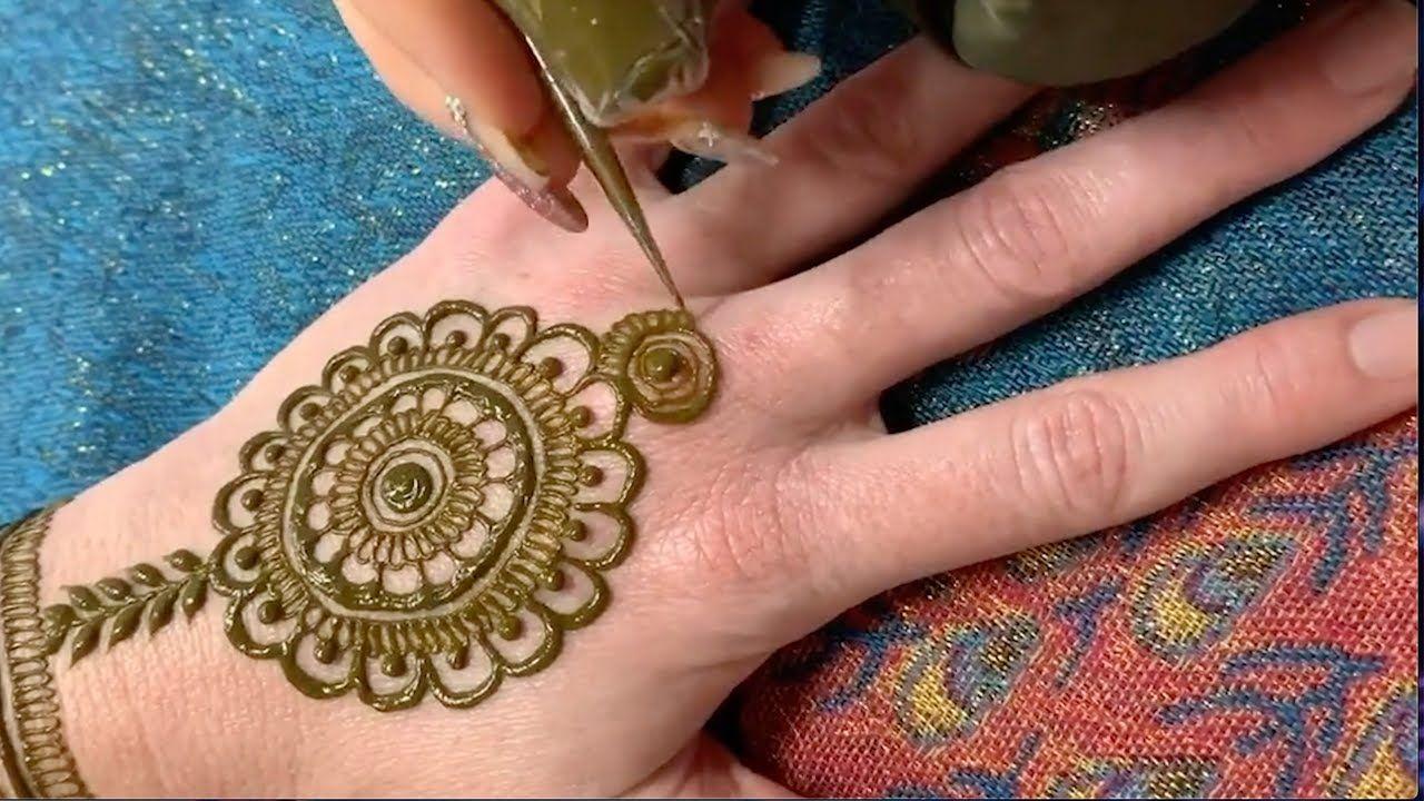 نقشات حنة سهلة Arabic Henna Tutorial Henna Drawings Henna Hand Tattoo Hand Henna