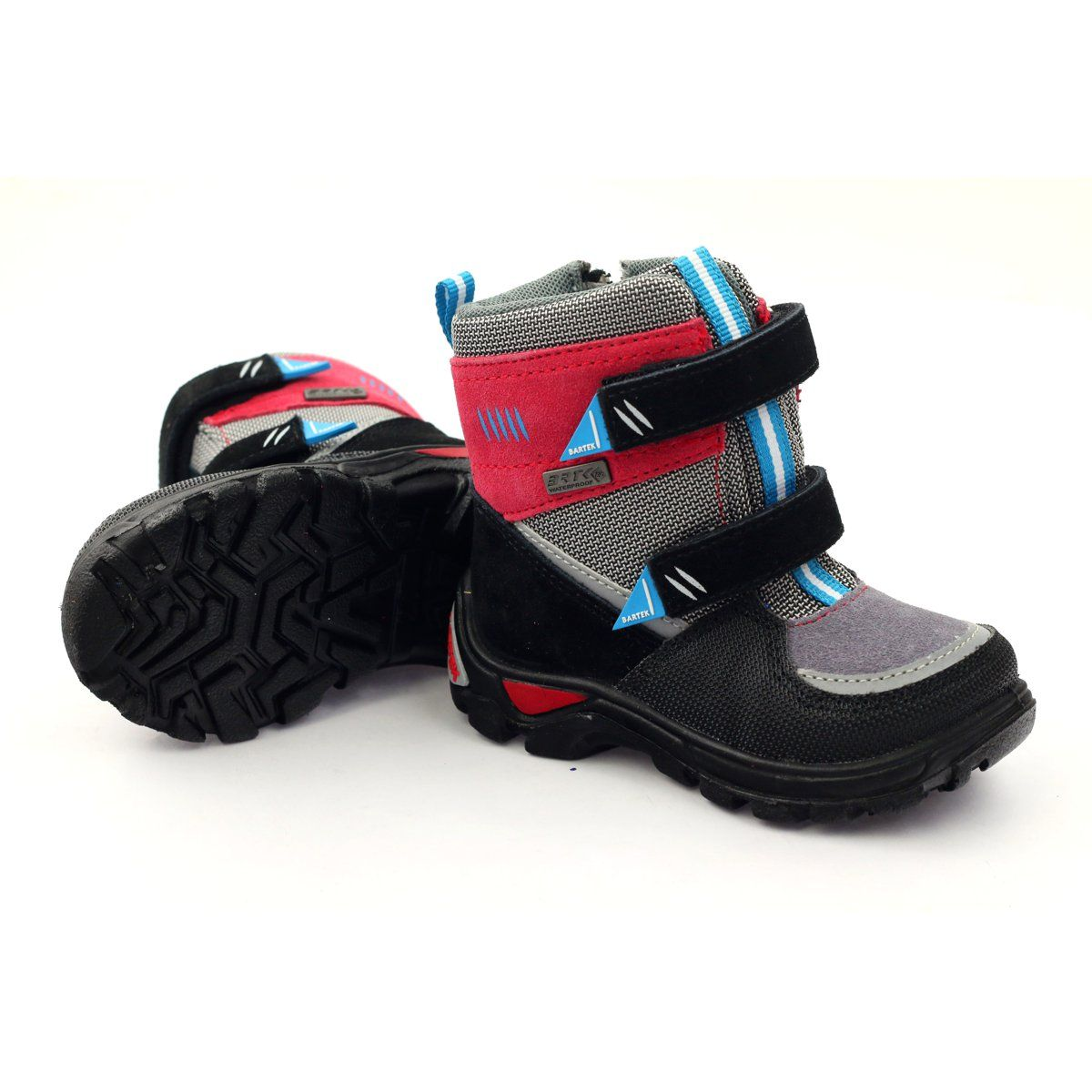 Snow Boots With Membrane Bartek 21759 Red Grey Blue Black Boots Childrens Boots Snow Boots