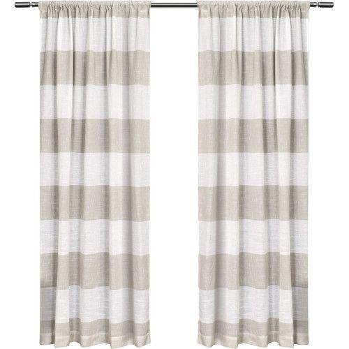 Found it at Joss & Main - Skyline Stripe Linen Rod Pocket Curtain Panel