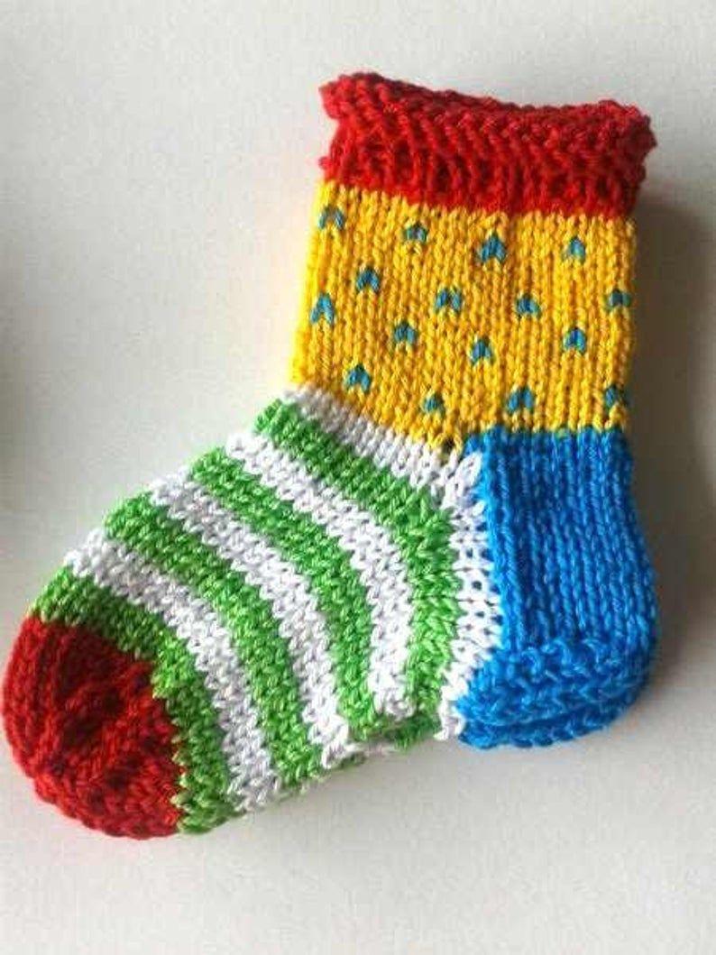 Strickende Ideen Baby Socks Winzig Socks 12