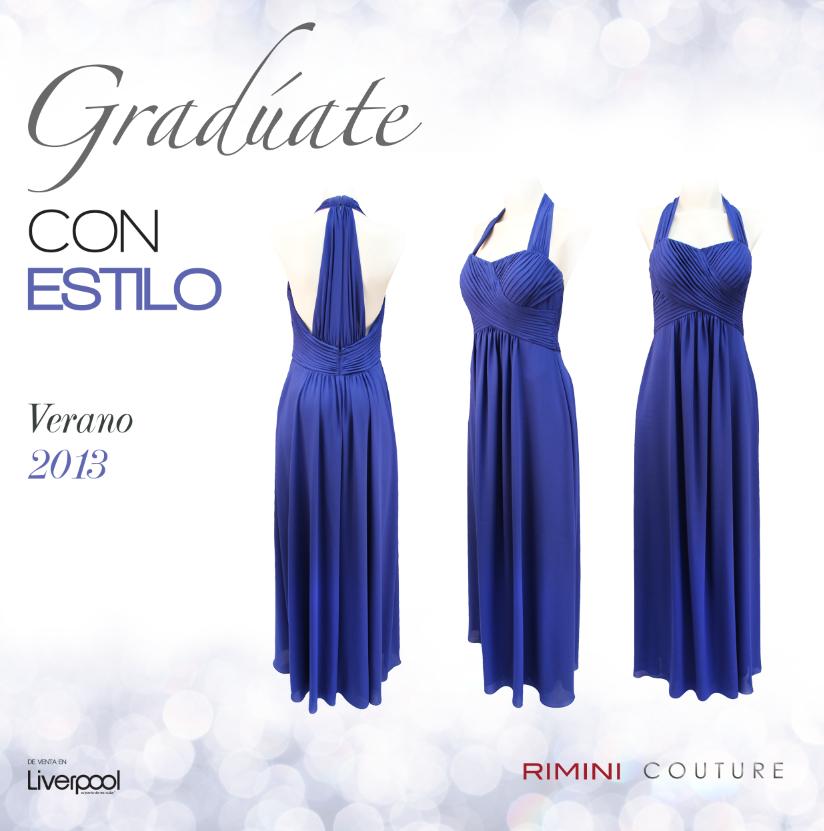 ¿Que te parece este espectacular escote en la espalda? Este #vestido an #azul de temporada será la perfecta elección para tu #graduación.