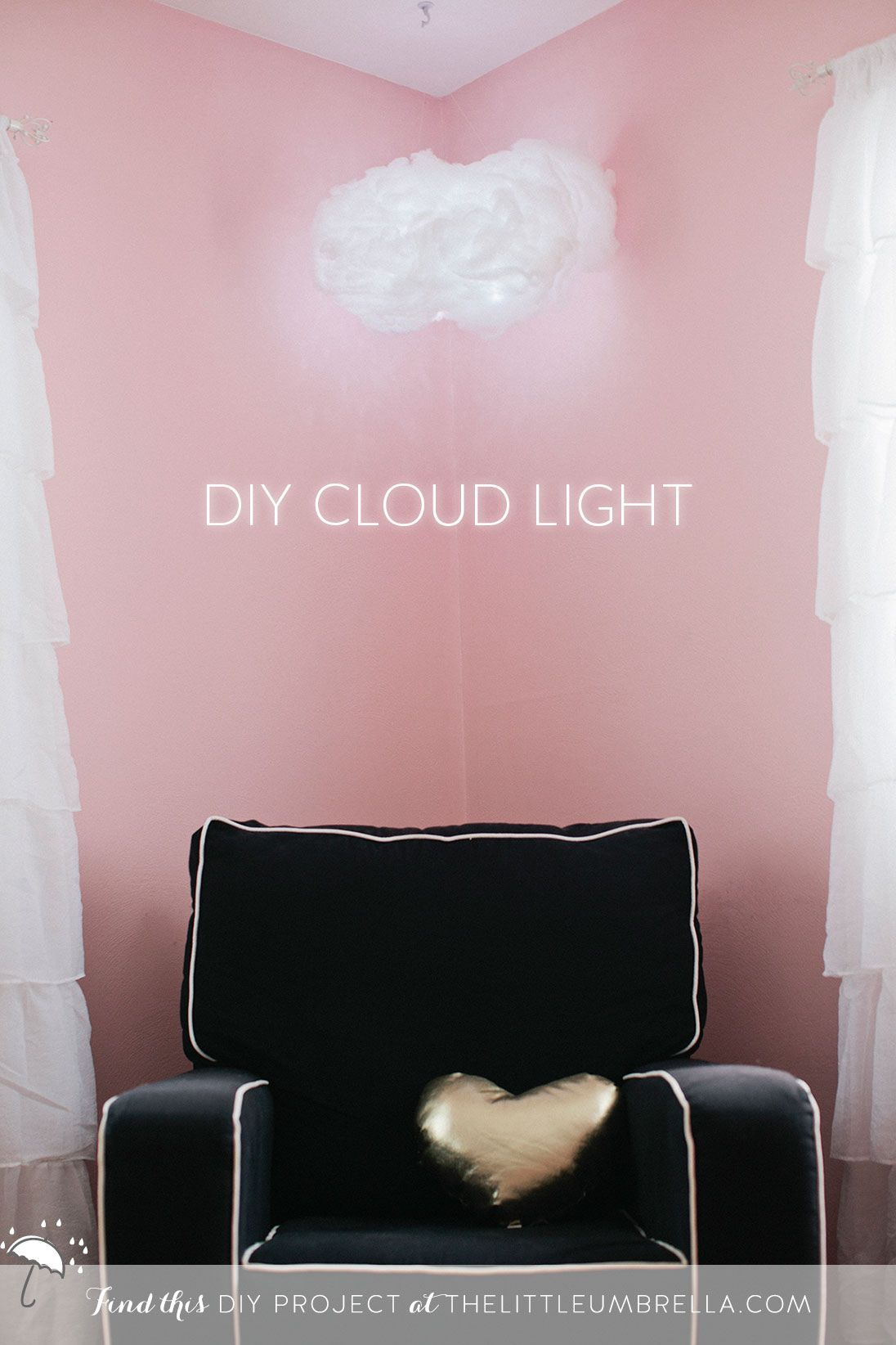 DIY Project Cloud Light for the Nursery The Little