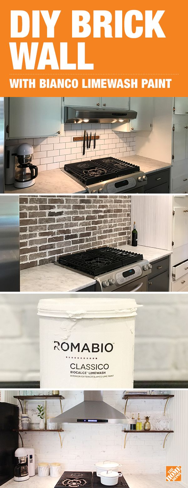 6 Steps to the Perfect Limewashed Brick Backsplash | Küche