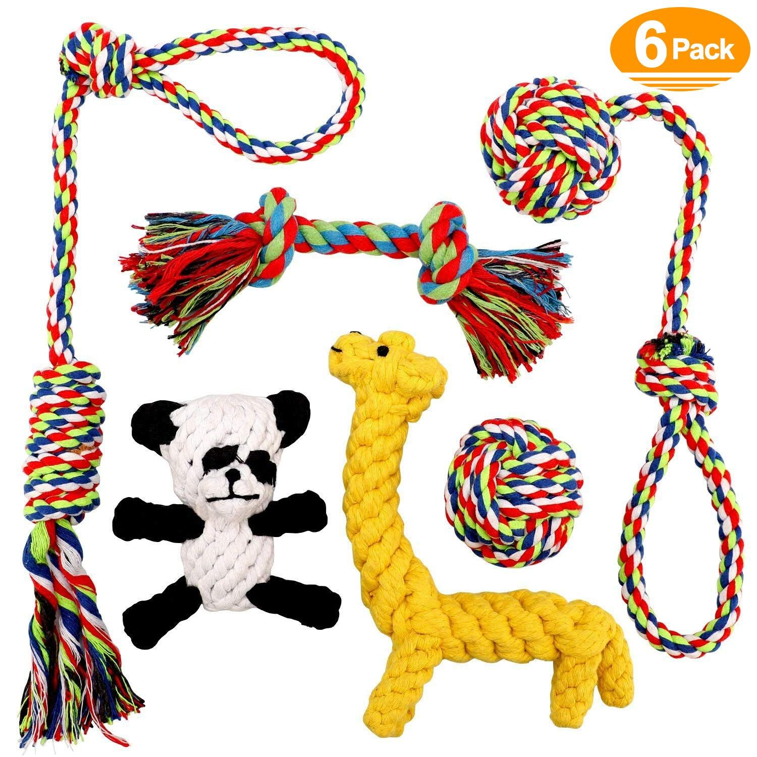 Ohmygodd Puppy Dog Rope Dog Tug Rope Toy Puppy Chew Toys Set With