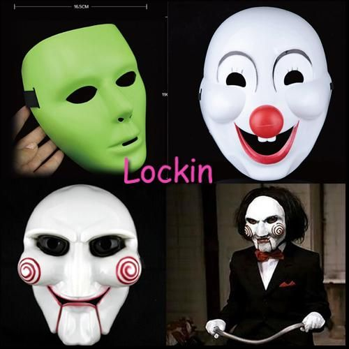 Your Choice! Halloween Cosplay Use It For Dress Up Blank Face Red Mask