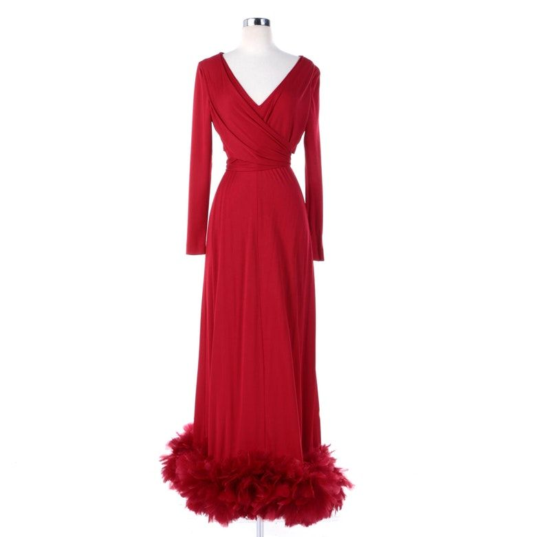 d9513cc3a0d 1970 s Victor Costa dress on ebth 300. with 17 hrs. to go