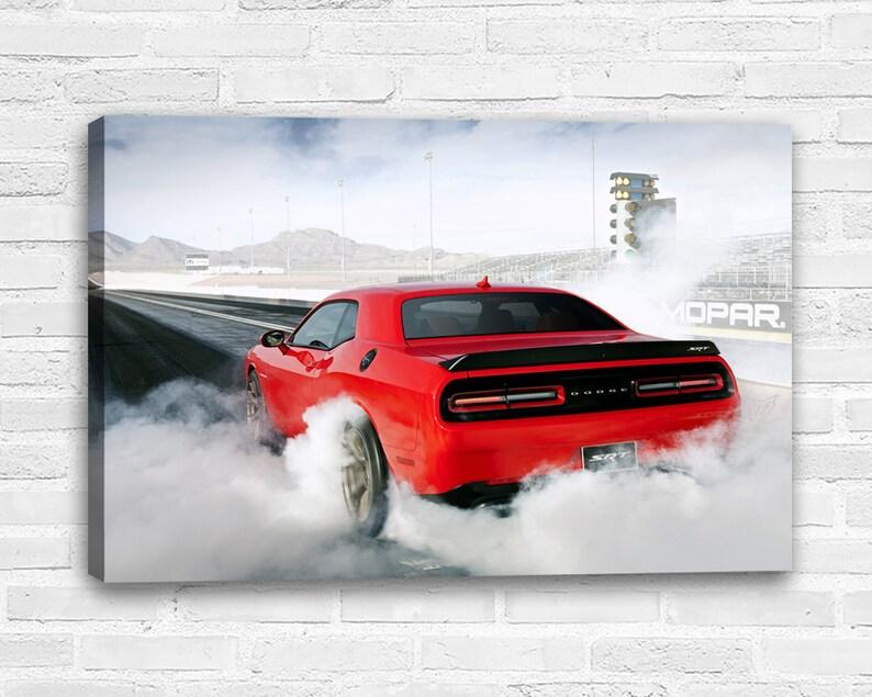 Dodge Challenger Srt Hellcat Canvas Wall Art Etsy In 2020 Challenger Srt Dodge Challenger Srt Hellcat Etsy Wall Art