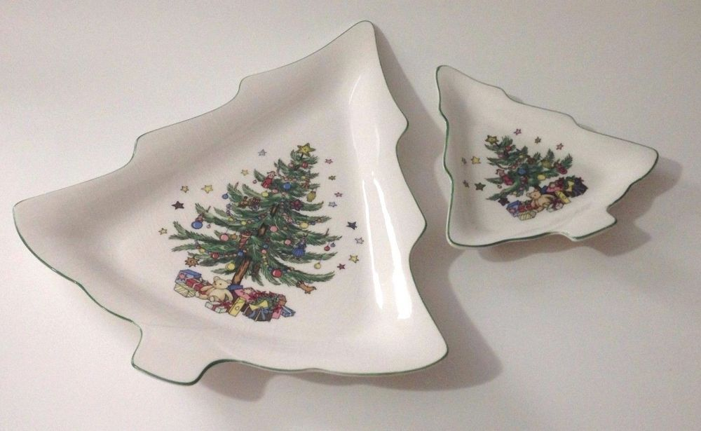 Nikko Christmastime Pattern Serving Candy Dish Set Holiday Dishes