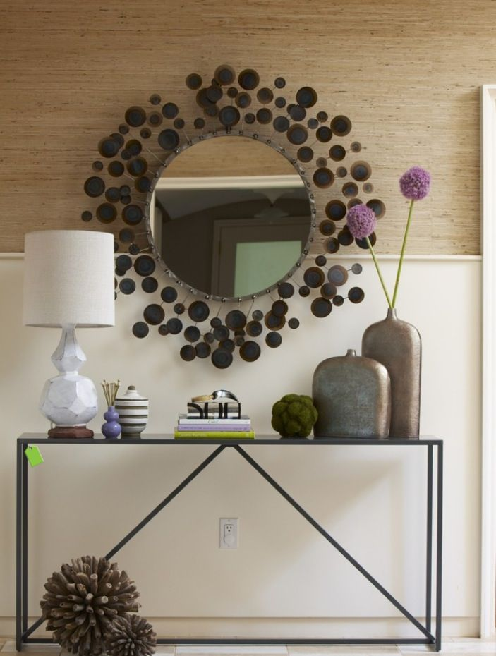 Funky Hall Tables entry idea - funky mirror above table/bench | entry ideas