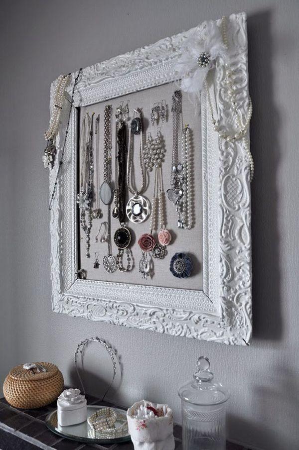 jewelry organizer frame - Google Search | jewelery oganization ...