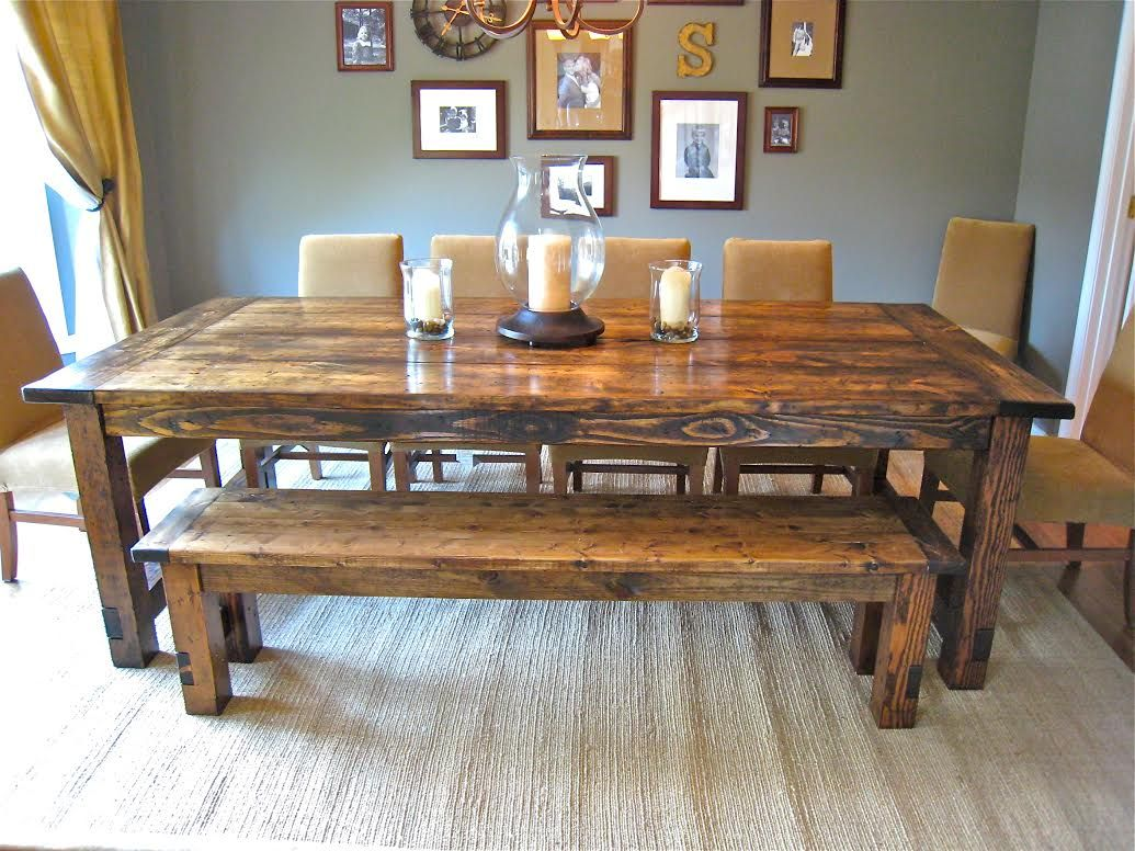 How to make a diy farmhouse dining room table restoration hardware diy farmhouse dining room centerpieces how to make a diy farmhouse dining room table dzzzfo